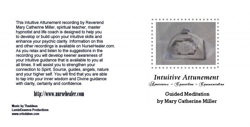 Intuitive Attunement Meditation CD Booklet Outside