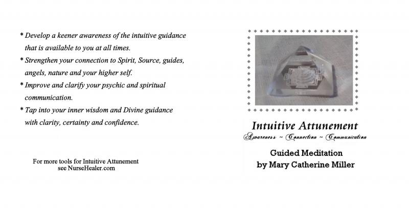 Intuitive Attunement Meditation CD booklet inside