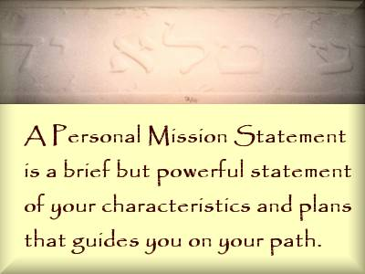 Developing a Personal Mission Statement Class