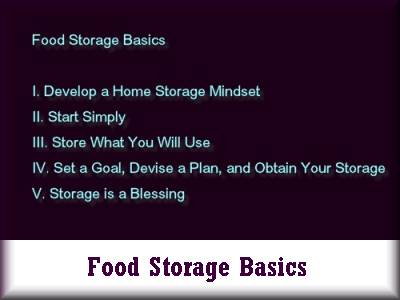 Food Storage Basics Class