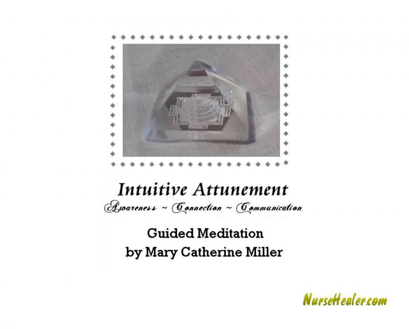 Intuitive Attunement Meditation Tray Card Inside