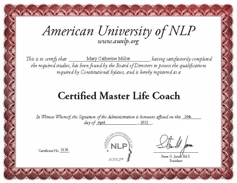 Nursehealer Certifications Mary Catherine Miller