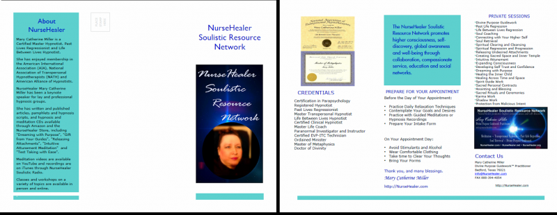 NurseHealer Soulistic Resource Network Brochure