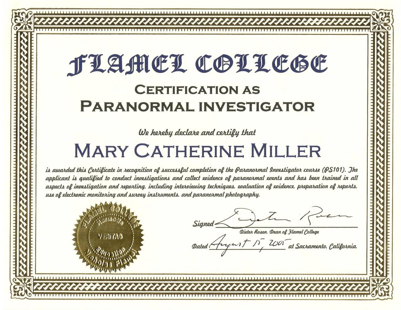 Paranormal Investigator Cover Letter Veterinary Desktop Support
