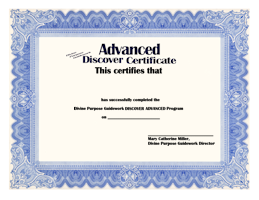 Divine Purpose Guidework DISCOVER ADVANCED Certificate